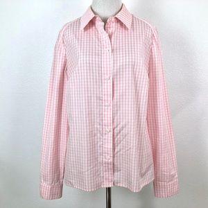 Carlisle Pink Gingham Button Down Shirt